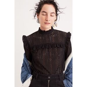 Madewell Eyelet Top worn once